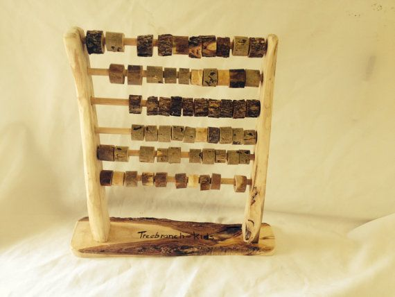 Handmade Wooden Abacus $48.00..All our items are handcrafted and made out of tree branches. Australia Made. Please note our products are a natural wood. You may find some saw dust residue on them, the bark may flake or peel off somewhat and the surface may crack lightly as it dries out. None of this will affect their intended purpose and is a completely natural characteristic of fresh cut wood products.