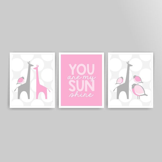 89 best Girl nursery wall art images on Pinterest | Nursery wall art ...