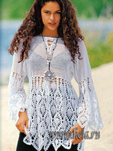 crochet tunic: Sabrina. Heiße Maschen: Tops, Bikinis, Tuniken & Co. stricken 2006