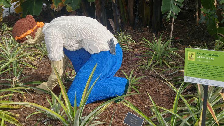 A gardener completely made of Lego blocks!