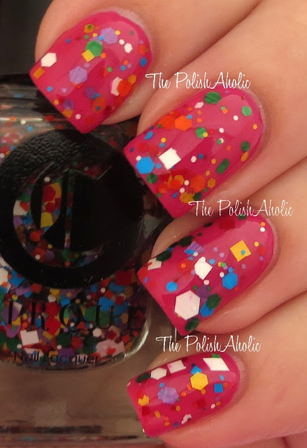 Cirque Colors KALEIDOSCOPE shown over pink