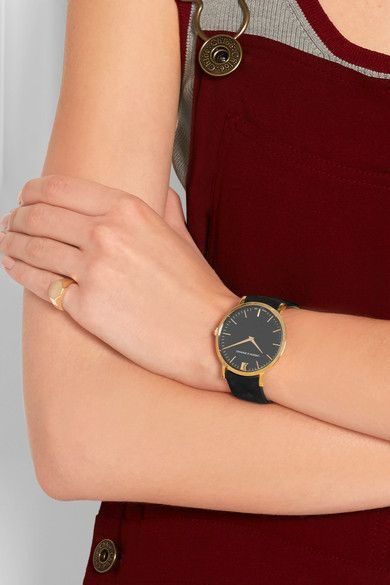 Larsson & Jennings - Lugano Suede And Gold-plated Watch - one size