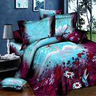 3D Swan Bedding Pillowcase Quilt Duvet Cover Set Or Flat Sheet Double Size