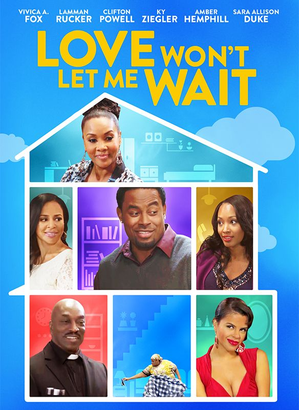 "Alchemy is thrilled to announce the home entertainment release of director Roger Melvin's LOVE WON'T LET ME WAIT, starring Lamman Rucker (Meet the Browns, Why Did I Get Married?, The Man in 3B) , Vivica A. Fox (TV's ""Empire"", Kill Bill, Independence Day) , Clifton Powell (Ray, Norbit, Rush Hour) and Thea Vidale (Dr. Jekll and Ms. Hyde, Ringmaster) . The film has a running time of 100 minutes, is not rated and will be available on DVD on February 2, 2016."