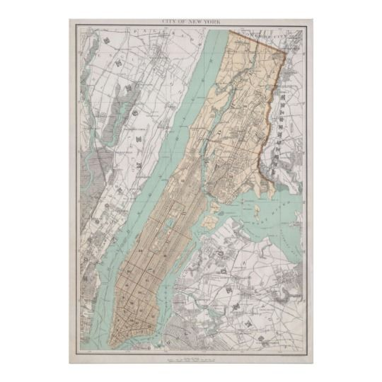 76 best Vintage New York City Map Prints images on Pinterest City