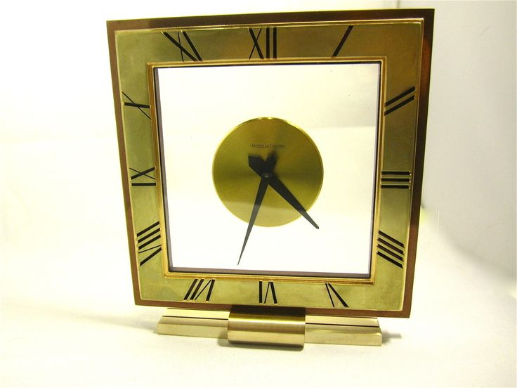 Uhr Tischuhr `Jaeger Le Coultre´ Schweiz Art Deco Bronze um 1930 8 Tage Uhrwerk, superb signed 8 day table clock Switzerland