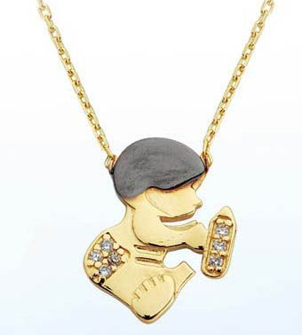 14 ayar altın bebek kolye