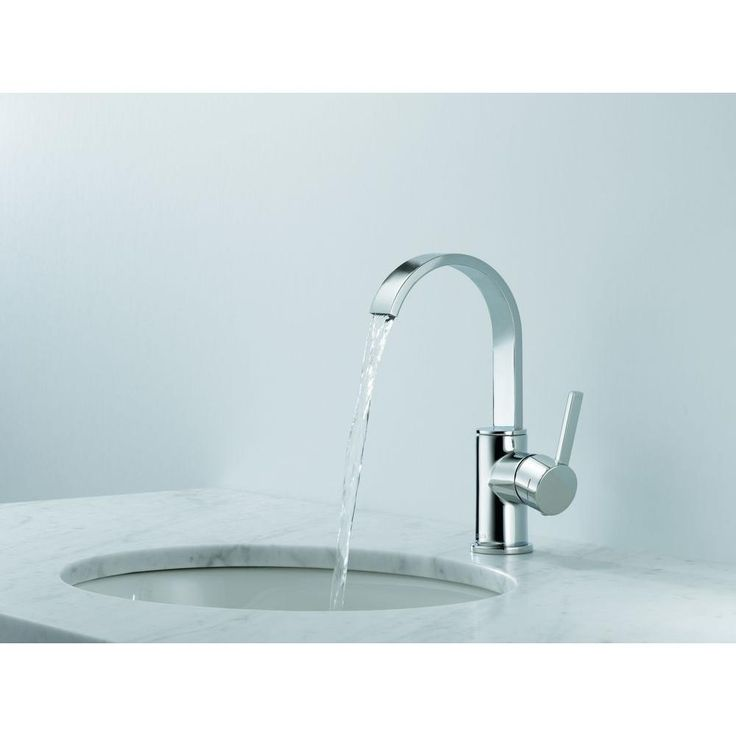 centerset single handle high arc bathroom faucet in chrome - Home Depot Bathroom Design Ideas
