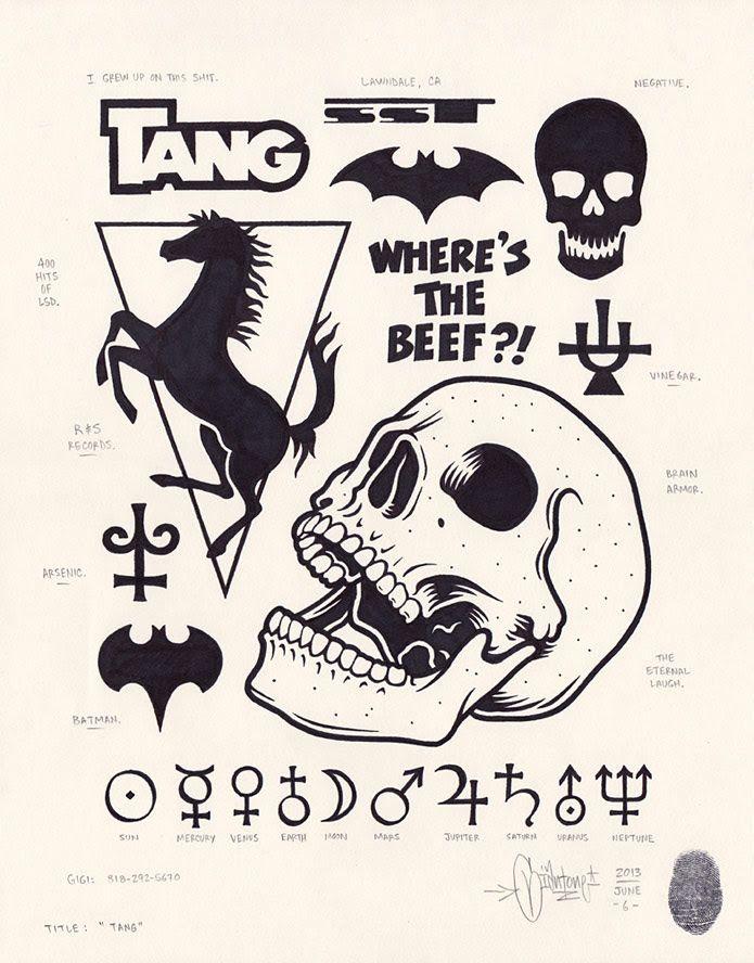 "Magazine - Mike Giant ""Modern Hieroglyphics"" @ Fecal Face Dot Gallery, SF"
