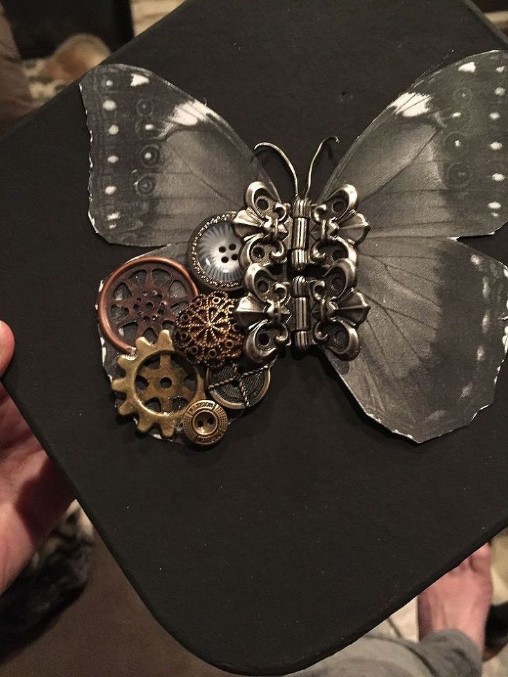 "Hometalk :: First Attempt at a ""Steampunk"" Butterfly"