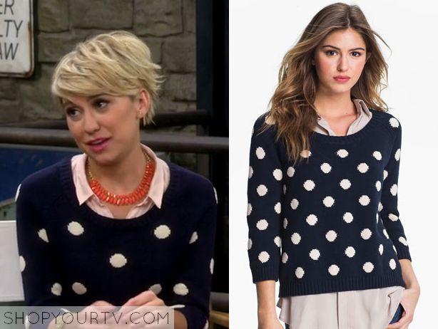 Baby Daddy: Season 4 Episode 5 Riley's Navy Polka Dot Sweater