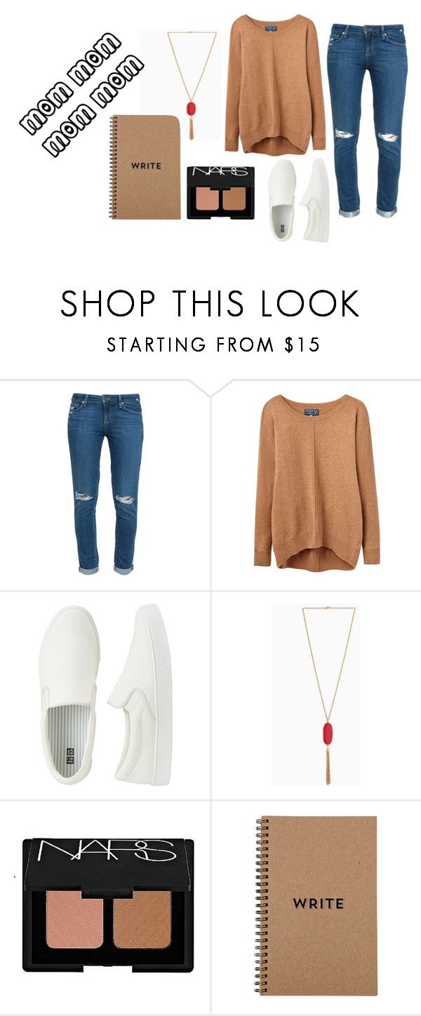 Casual Mom Outfit by krosefashion18 on Polyvore featuring Joules, Paige Denim, Uniqlo and NARS Cosmetics
