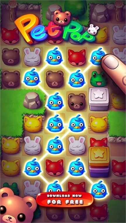 Pet Pop  Like Jelly Splash but with cute animals