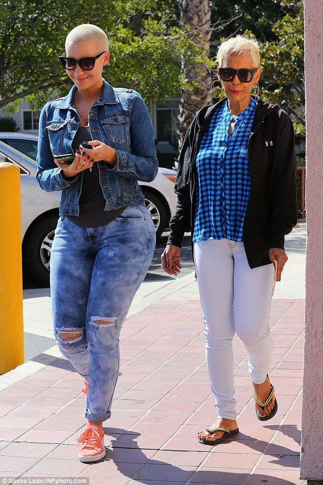 Chip off the old block! Amber Rose, who revealed she misses exotic dancing, was seen with her lookalike mother on Wednesday in LA