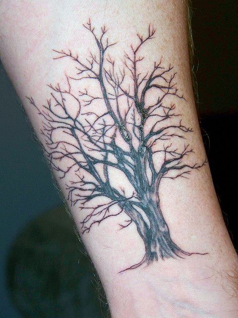 Tree tattoo leaves and tattoo for Death tree tattoo