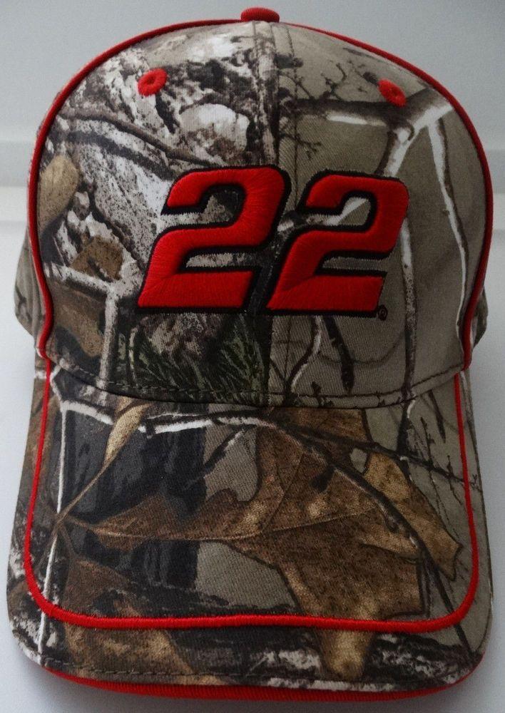 Joey Logano #22 Realtree Camouflage Camo Nascar Hat #PenskeRacing