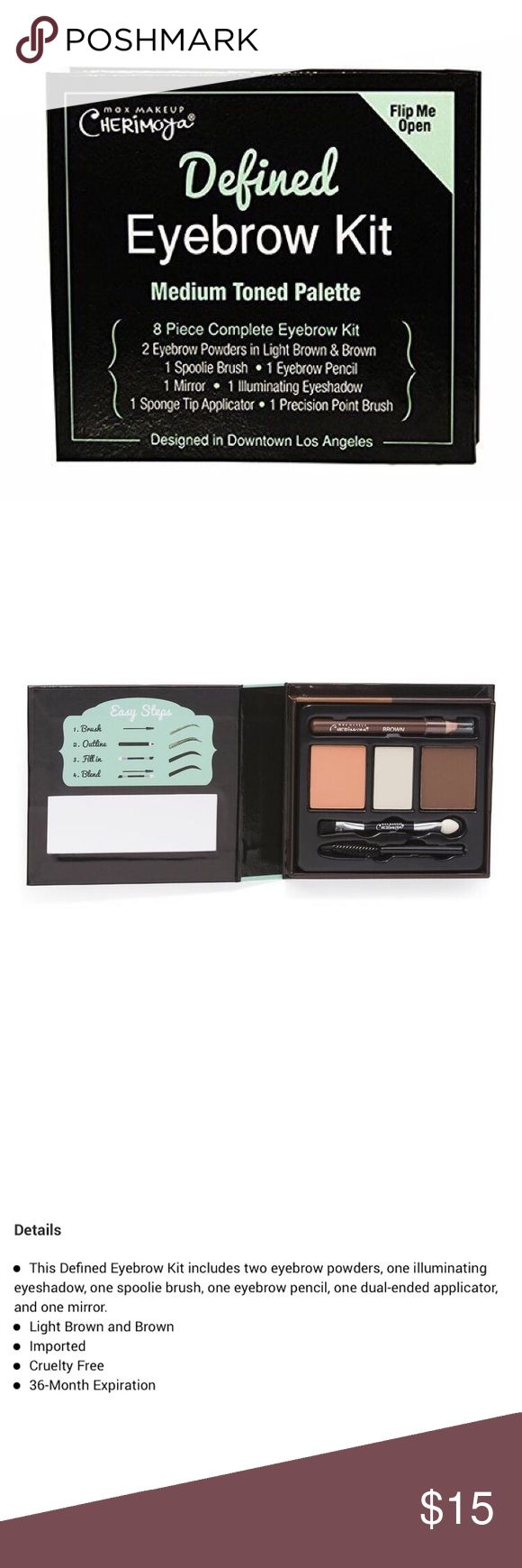 🆕[max makeup cherimoya] defined eyebrow kit • style name: defined eyebrow kit • color: medium toned • see above for details from company website • condition: new, never used ____________________________________________________ ✅ make an offer!     ✅ i bundle! ✅ posh compliant closet ⛔️ no trades 🛍 boutique item Max Makeup Cherimoya Makeup Eyebrow Filler