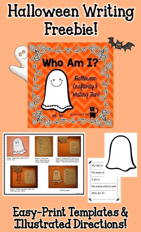 Who Am I? Halloween Writing Freebie Halloween writing