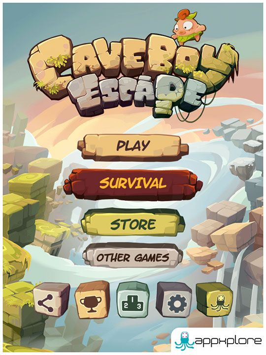 Caveboy Escape||iOS, Android, Blackberry - Appxplore | Games Development Studio