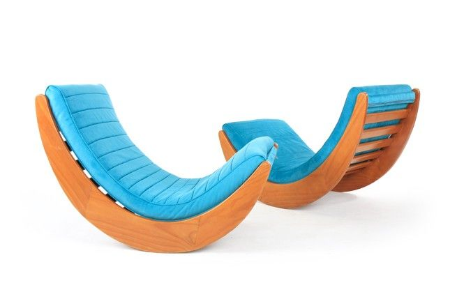 Pair of Verner Panton 'Relaxer' Rocking Chairs - Mr. Bigglesworthy Designer Vintage Furniture Gallery