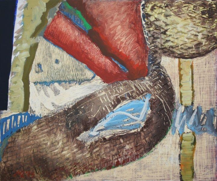 Peindre avec de la cendre II, acrilique sur toile, Maia Stefana Oprea  en savoir plus : http://www.maiaoprea.ro/fr/projets/2013/gaspillage-premiere-scene