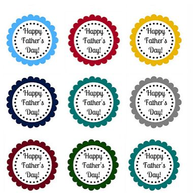 Father S Day Printable Scallop Tags Mother S Father S