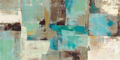 Teal and Aqua Reflections v2 Art Print at AllPosters.com