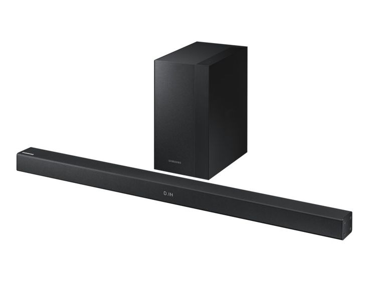 Samsung Wireless HW-M360/XA Soundbar - Black The Wireless Surround Kit* lets you expand your Soundbar to a surround sound system easily without the mess of wires**. Together with your Soundbar, you can create a channel system for a true surround sound experience.https://thtshopping.com/products/samsung-hw-m360-wireless-flat-soundbar-black
