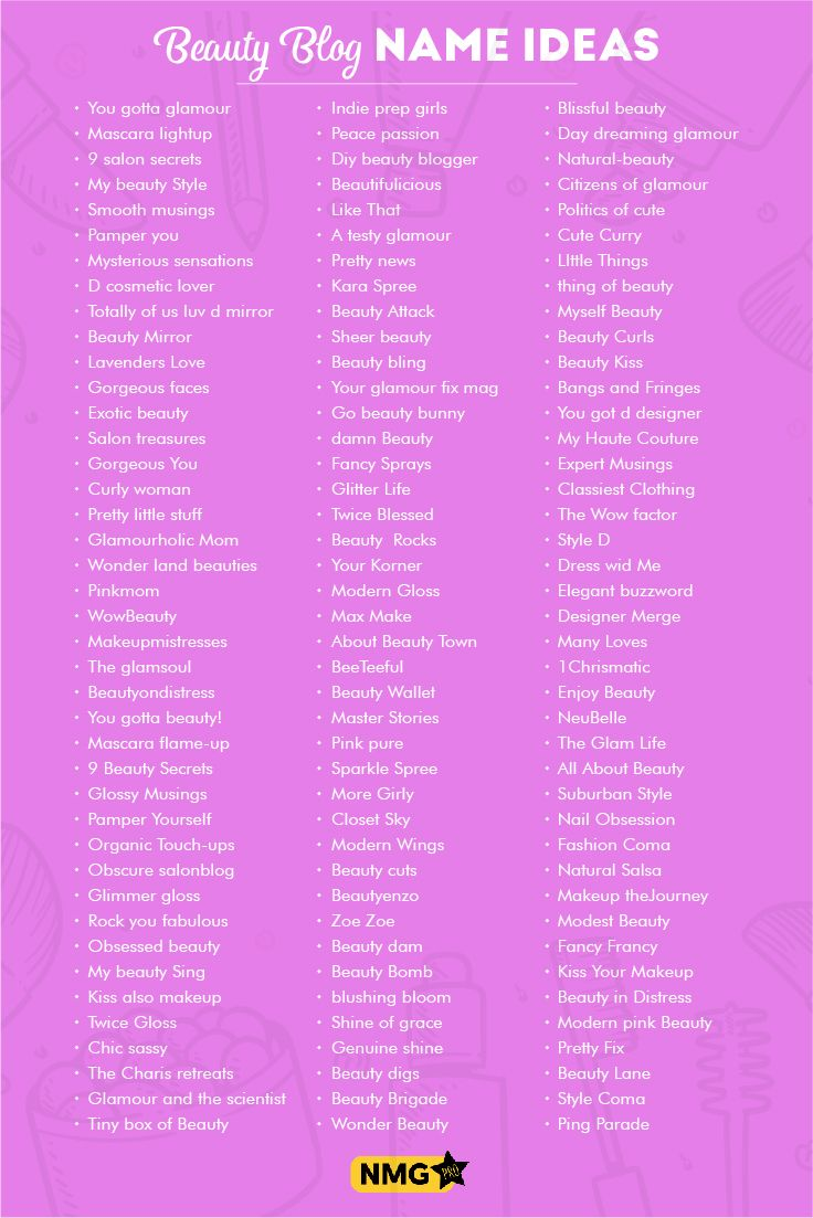 Beauty Blog Name Ideas - Beauty Blog Name Generator  Beauty blog