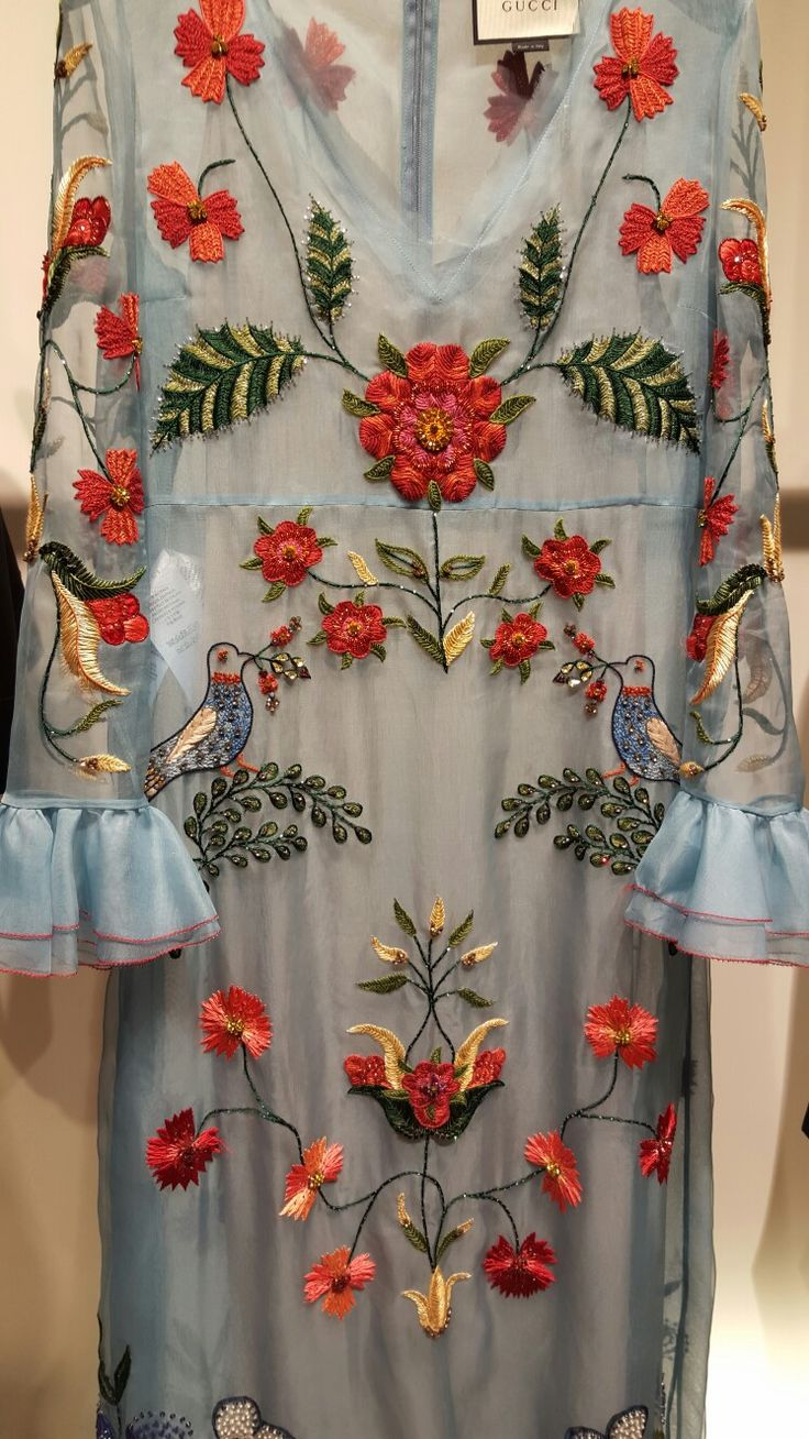 Gucci embroidered gown.