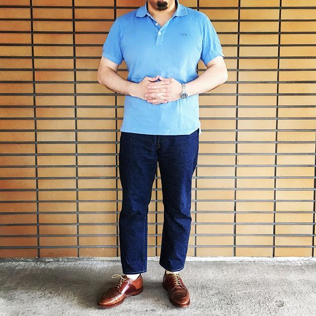 redaqueous 今日の格好 ○LACOSTE➖polo shirt ○BURGUS✖️WEARHOUSE➖880 ○ALDEN➖AF1 (whisky&mahogany shell cordovan) 義母の誕生日プレゼントを買いに日本橋へ。 #LACOSTE#ラコステ#ALDEN#ALDENSHOES#オールデン#cordovan#cordovanshoes#コードバン#mensshoes #mensstyle #mensfashion#dapper #dailylook #cordinate #outfit  #styleformen #todayoutfit #コーディネート #スナップ #今日のコーデ #コーデ #ootd  #今日の足元 #今日の服 #classicshoes #shoesoftheday #足元倶楽部 2016/05/21 13:43:54