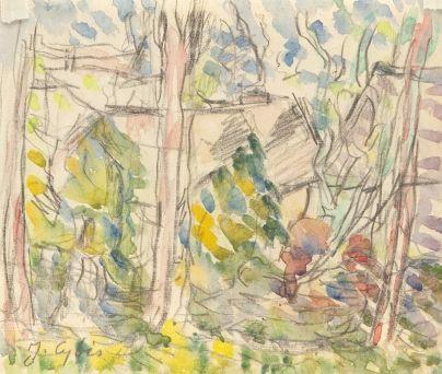 Jan Cybis - Motyw z Gołuchowa, 1966