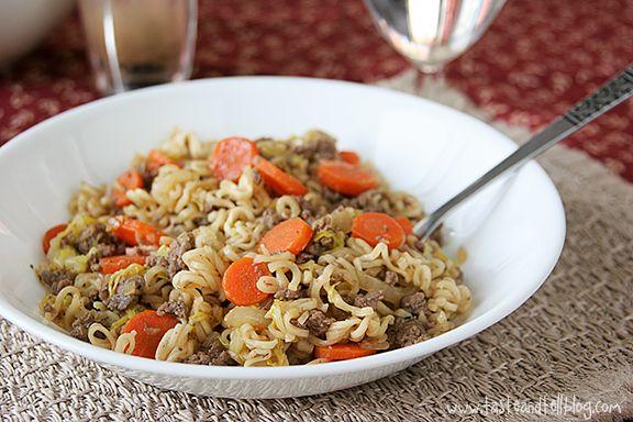 ramen cheap recipe Skillet Recipe Beef Ramen  Vegetable