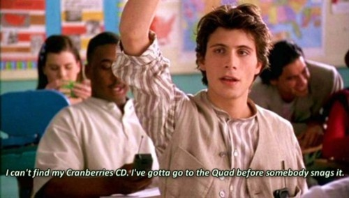Clueless-era Jeremy Sisto. I was so into him when I first saw this movie (even though he's kind of a jerk in it...).