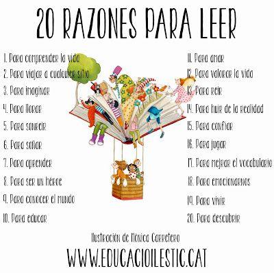 """Educació i les TIC: 20 raons per llegir - """"20 razones para leer"""""""