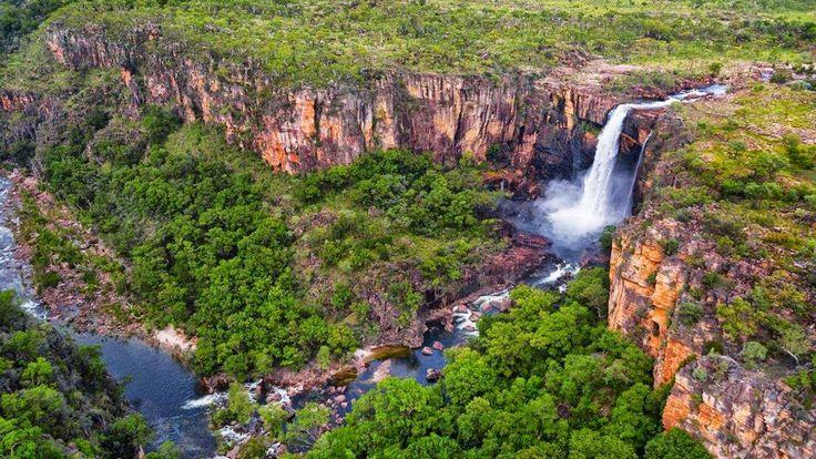 Jim Jim Falls (height 259 meter) Kakadu National Park, Northern Territory, Australia