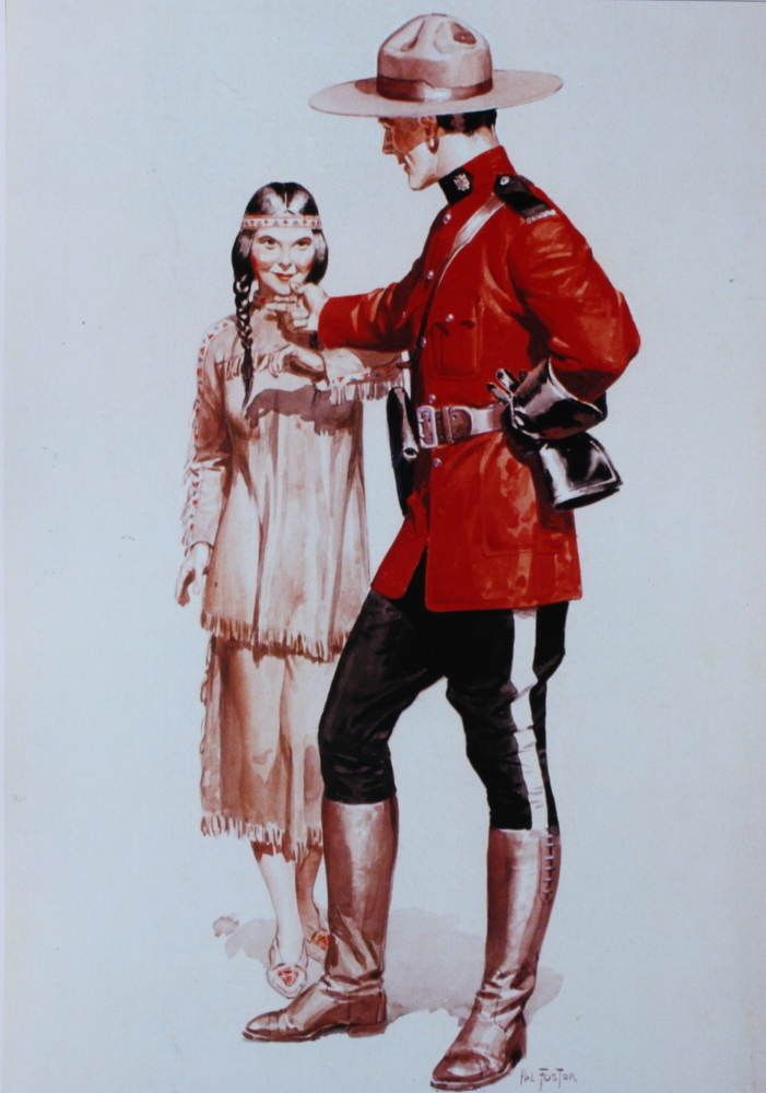 Canadian Mountie RCMP  with Indian Maiden by Hal Foster