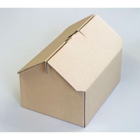 かわいい屋根の付いた60サイズダンボール箱(ギフト向きハウス型箱)|アースダンボール