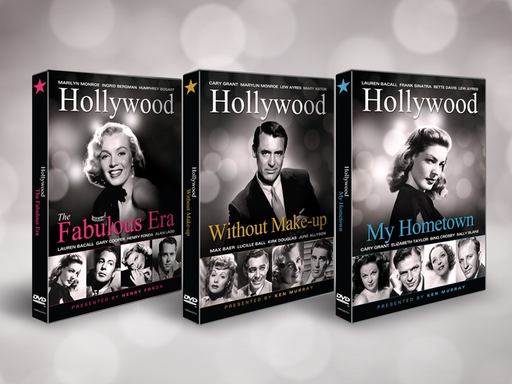 """""""Hollywood"""" 3CD Box set. Inlay and onbody designs. These compilation documentaries contain numerous film clips of some of Tinseltown's biggest stars in rather private moments behind the scenes."""