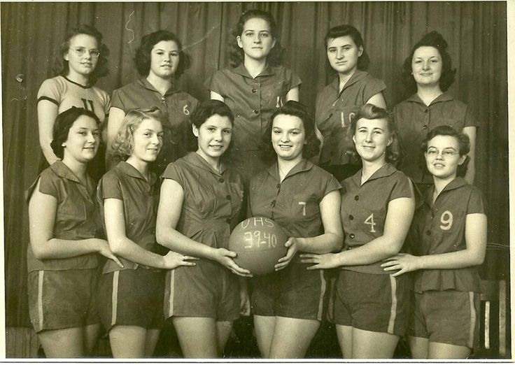 Girls' Basketball Team at Unity High School for the school year 1939-1940.