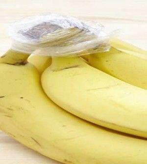 folpackot tekert a banán szárára