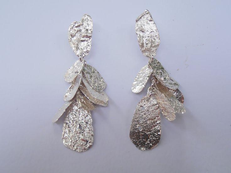 """Orecchini""""Petali""""d'argento 925----Earrings """"Petals"""" Silver 925 #jewellry#earrings#silver"""