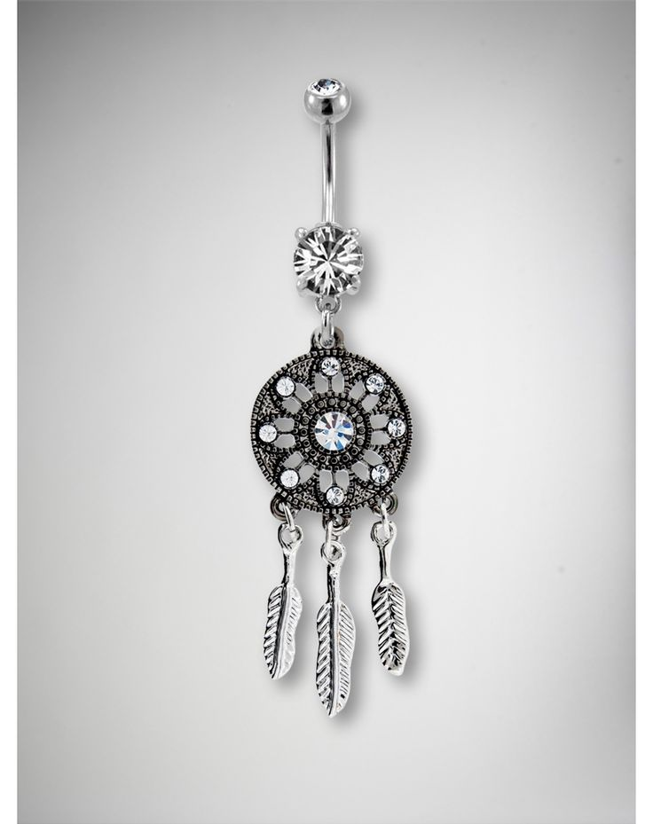 Gem Dream Catcher Belly Button Ring