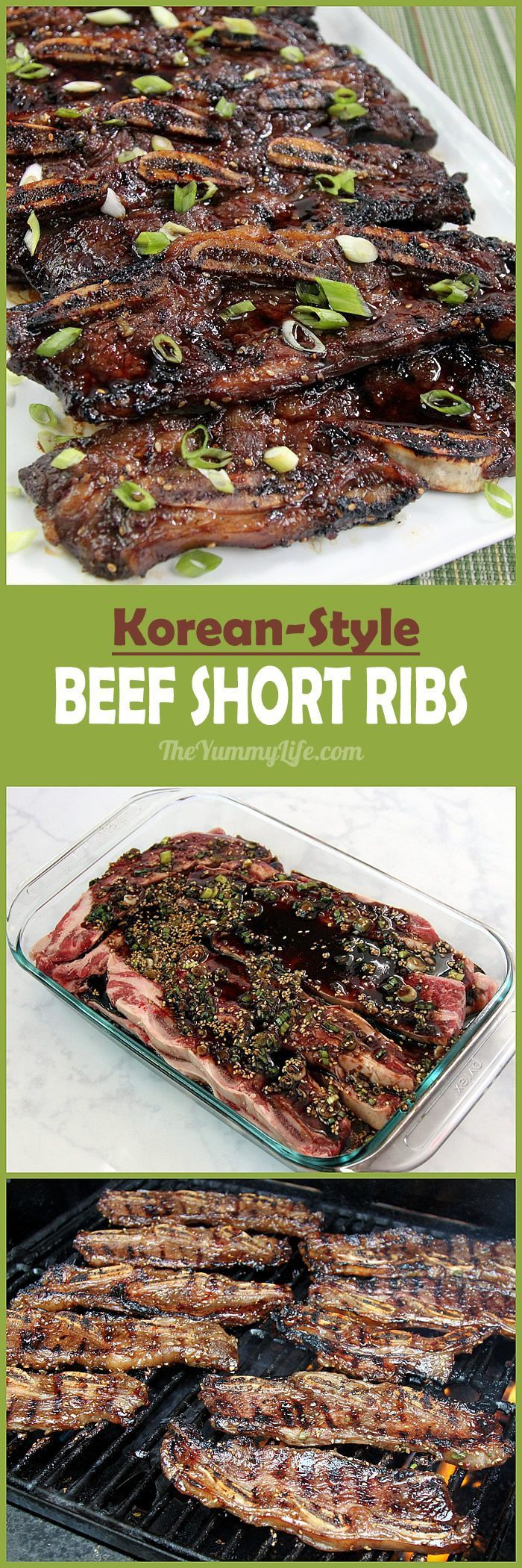 Korean Barbecue Beef Short Ribs are so easy to grill or broil, and they're…