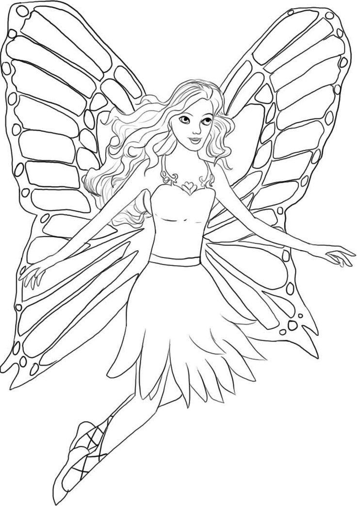 free detailed faerie coloring pages - photo#36