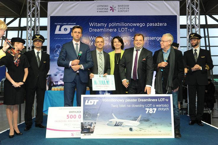 Half a million passengers of Dreamliners served at Warsaw Chopin Airport. read more http://www.lotnisko-chopina.pl/en/airport/about-the-airport/pressroom/news/2014/11/half-a-million-passengers-of-dreamliners-served-at-warsaw-chopin-airport