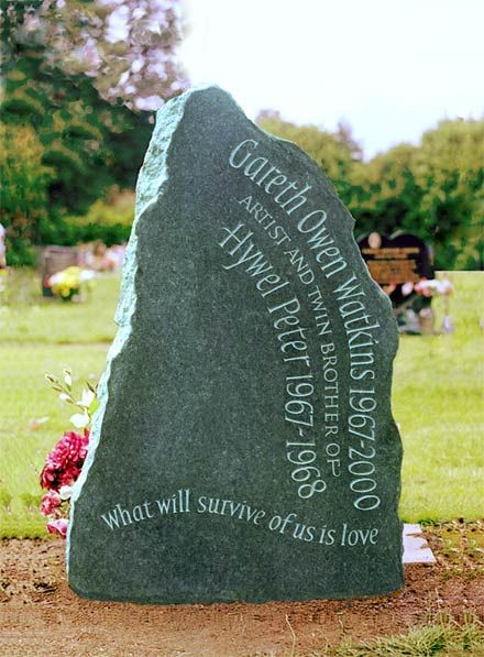 Beautiful headstones  http://www.ieuanreeslettering.co.uk/decorative_headstones.html