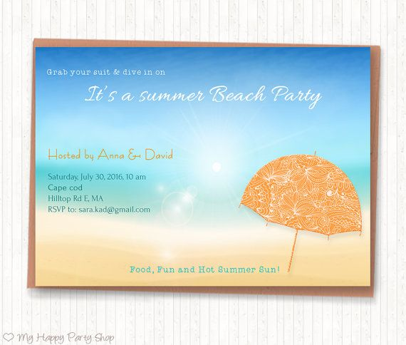 Beach Theme Card Stock: 82 Best Adult Birthday Invitation Images On Pinterest