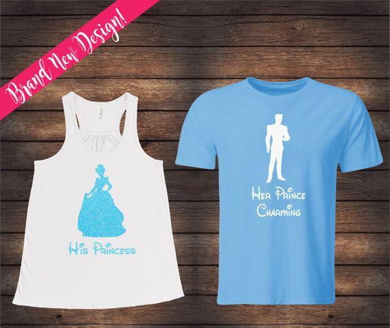 His Princess Her Prince Charming | Cinderella Shirts | Disney Couple Shirts…