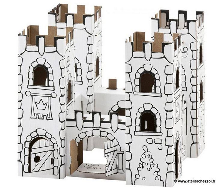 Les 25 meilleures id es de la cat gorie ch teau en carton for Maison en carton a colorier